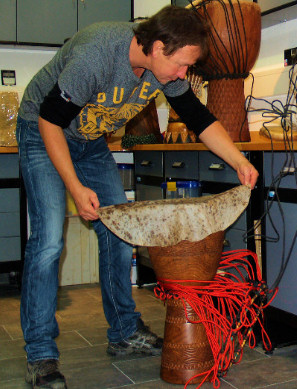 Re Skinning and Re Heading a Djembe Drum