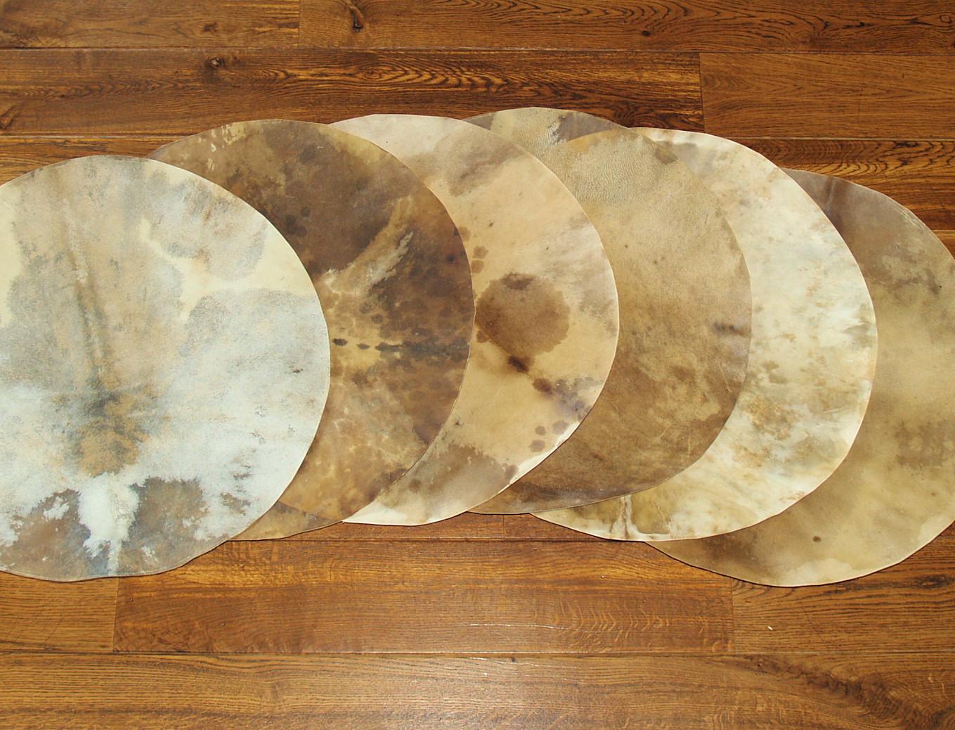 Djembe Fell mit Haar 50cm  drumskin drumhead trommelfell trommelhaut